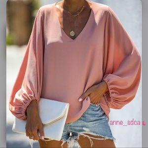 Bells Will Be Ringing Balloon Long Sleeve Blouse